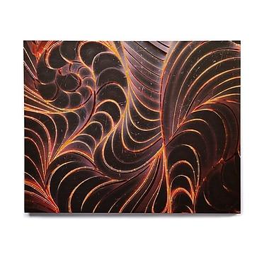 East Urban Home Digital 'Trouble' Graphic Art Print on Wood; 16'' H x 20'' W x 1'' D