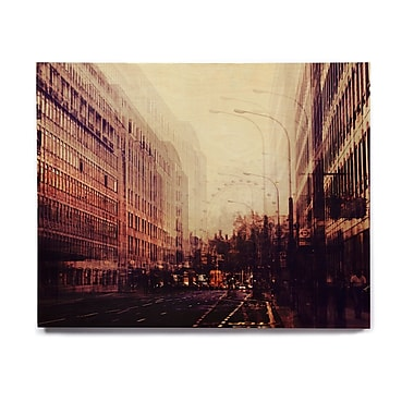 East Urban Home 'London' Graphic Art Print on Wood; 8'' H x 10'' W x 1'' D