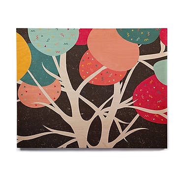 East Urban Home Branches 'Lovely Tree' Graphic Art Print on Wood; 16'' H x 20'' W x 1'' D