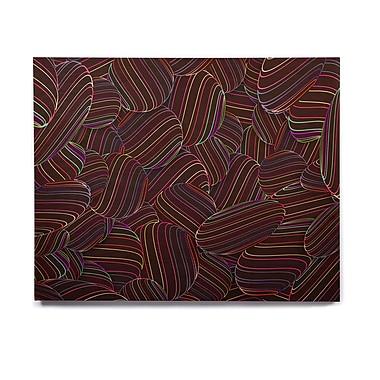 East Urban Home Rainbow 'Sphering' Graphic Art Print on Wood; 16'' H x 20'' W x 1'' D
