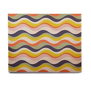East Urban Home Stripe 'Rainbow Stripes' Graphic Art Print on Wood