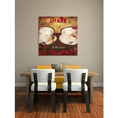 Red Barrel Studio 'Share A Random Moment' Graphic Art Print on Wood