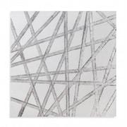 Brayden Studio 'Silver Ribbons' Print on Canvas