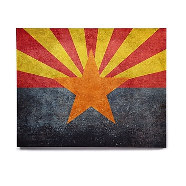 East Urban Home 'Arizona State Flag Retro Style' Graphic Art Print on Wood