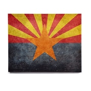 East Urban Home 'Arizona State Flag Retro Style' Graphic Art Print on Wood