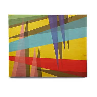 East Urban Home Bluce 'Ambient 19 Yellow ' Graphic Art Print on Wood; 8'' H x 10'' W x 1'' D