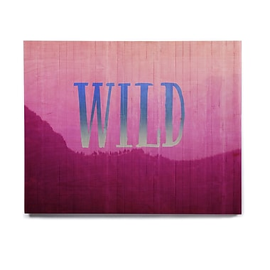 East Urban Home 'Wild' Graphic Art Print on Wood; 20'' H x 24'' W x 1'' D