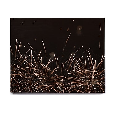 East Urban Home 'Fireworks' Graphic Art Print on Wood; 8'' H x 10'' W x 1'' D