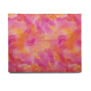 East Urban Home Watercolor 'Color Explosion' Painting Print on Wood