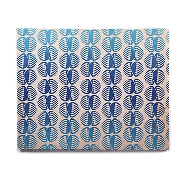 East Urban Home 'Poddy Combs In Blue' Graphic Art Print on Wood; 20'' H x 24'' W x 1'' D