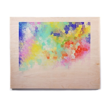 East Urban Home Abstract 'Color Structure' Graphic Art Print on Wood; 8'' H x 10'' W x 1'' D