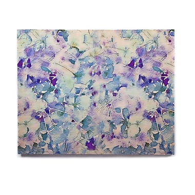 East Urban Home 'Floral Fantasy Blue' Graphic Art Print on Wood; 16'' H x 20'' W x 1'' D