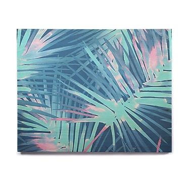 East Urban Home Illustration 'Neon Tropical' Graphic Art Print on Wood; 20'' H x 24'' W x 1'' D
