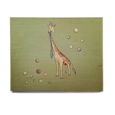 East Urban Home 'Giraffe' Graphic Art Print on Wood