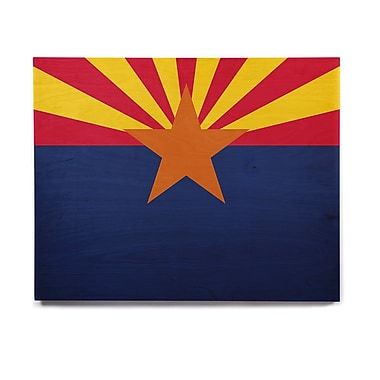 East Urban Home 'Flag Of Arizona' Graphic Art Print on Wood; 20'' H x 24'' W x 1'' D