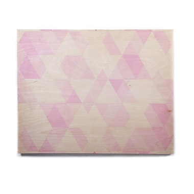 East Urban Home Geometric 'Aspire' Graphic Art Print on Wood; 8'' H x 10'' W x 1'' D