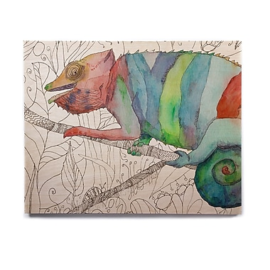 East Urban Home 'Chameleon Fall' Graphic Art Print on Wood; 16'' H x 20'' W x 1'' D