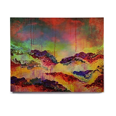 East Urban Home 'It's A Rose Colored Life 4' Graphic Art Print on Wood; 8'' H x 10'' W x 1'' D