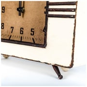 George Oliver Tan Metal Tabletop Clock