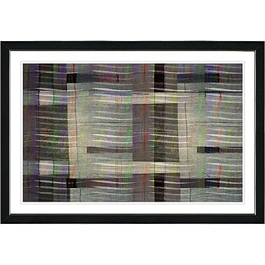 Orren Ellis 'Afunda Hazelnut Waves' Framed Acrylic Painting Print; Black