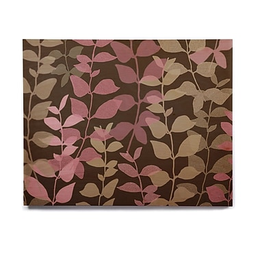 East Urban Home 'Leaves of Fantasy 2' Graphic Art Print on Wood; 20'' H x 24'' W x 1'' D