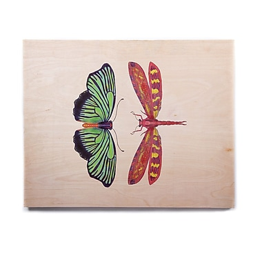 East Urban Home 'Haland Red' Graphic Art Print on Wood; 11'' H x 14'' W x 1'' D