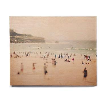 East Urban Home Coastal People 'Bondi Beach' Photographic Print on Wood; 20'' H x 24'' W x 1'' D