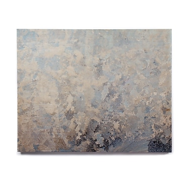 East Urban Home 'Frosted Marble' Graphic Art Print on Wood; 11'' H x 14'' W x 1'' D