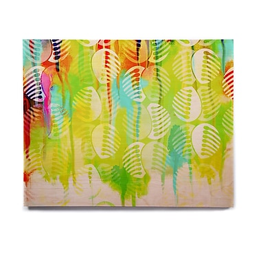 East Urban Home 'Poddy Combs - Wet Paint' Graphic Art Print on Wood; 11'' H x 14'' W x 1'' D