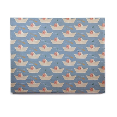 East Urban Home 'Paper Cat Pattern' Graphic Art Print on Wood; 16'' H x 20'' W x 1'' D