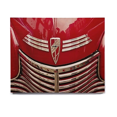 East Urban Home 'Red Chevy' Graphic Art Print on Wood; 16'' H x 20'' W x 1'' D