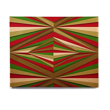 East Urban Home 'Christmas Pattern' Graphic Art Print on Wood