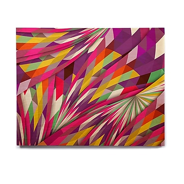 East Urban Home Geometric 'Sweet' Graphic Art Print on Wood; 16'' H x 20'' W x 1'' D