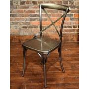 Gracie Oaks Wilna Side Chair; Nickel