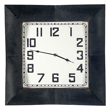 17 Stories Round Black Wall Clock