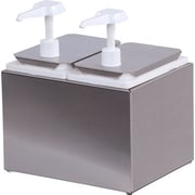 Carlisle Stainless Steel Housed Double Condiment Station, 2 Standard Pumps & Jars (38502)