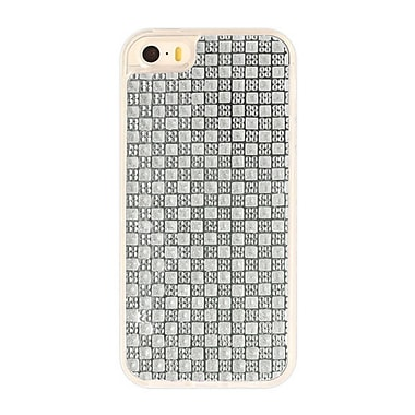 Zanko Gem Cell Phone Fitted Case for Apple iPhone 5S, Silver (ZKT-RG-IP5S-SL)