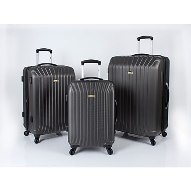Via Rail Canada Jasper 3 Piece Luggage Set, Grey (V1103)