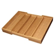 Totally Bamboo TB207554 Bamboo Expandable Cutlery Tray