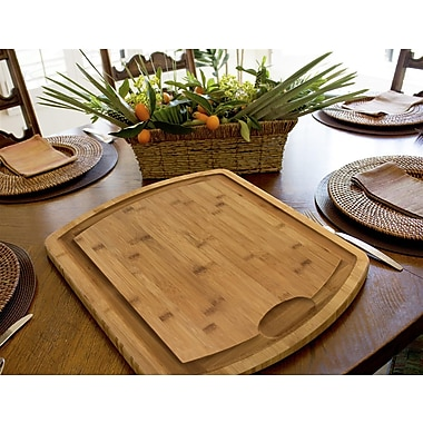 Totally Bamboo TB203043 Bamboo Farmhouse Carver Cutting Board