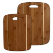 Totally Bamboo TB202036 Bamboo 2 Pc Stripe Cutting Board Set