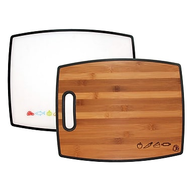 Totally Bamboo TB207942 Bamboo On One side, Poly On The Other Cutting/Serving Board