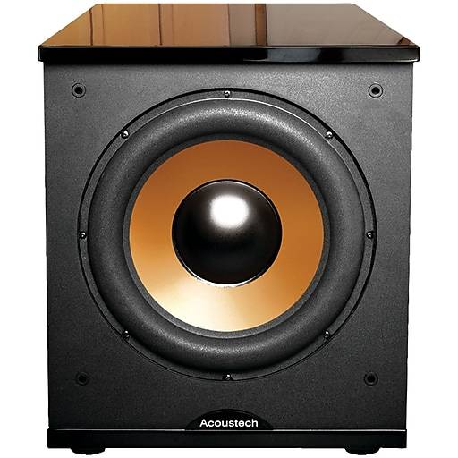 """BIC America™ Acoustech H-100II 12"""" 500 W Frontfiring Powered Subwoofer with Black Lacquer Top"""