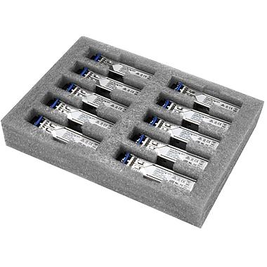 StarTech - Récepteur-émetteur SFP fibre optique GbE, HP J4859C, LC mono/multi mode avec DDM, 10 km, paq.10 (J4859C10PKST)
