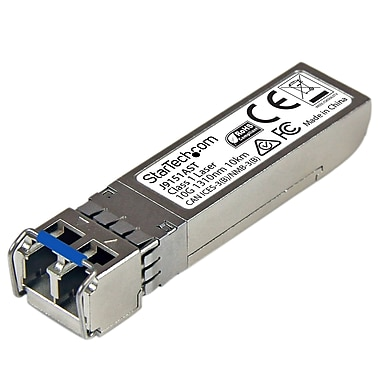 StarTech – Récepteur-émetteur SFP+ à fibre optique 10 Gigabit, HP J9151A, LC monomode avec DDM, 10 km (J9151AST)