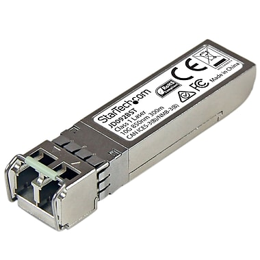 StarTech® 10 Gigabit Fiber SFP+ Transceiver Module, HP JD092B Compatible, MM LC with DDM, 984 ft (JD092BST)