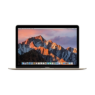 Apple – MacBook MNYK2LL/A 12 po, Intel Core m3 1,2 GHz, SSD 256 Go, LPDDR3 8 Go, MacOS Sierra, or
