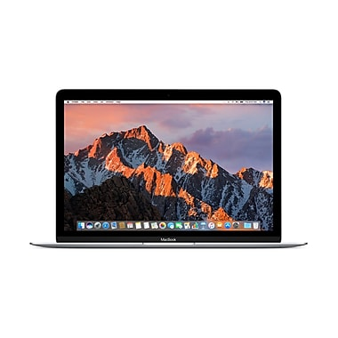 Apple – MacBook MNYH2LL/A 12 po, Intel Core m3 1,2 GHz, SSD 256 Go, LPDDR3 8 Go, MacOS Sierra, argent
