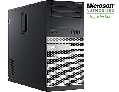 Refurbished Dell 7010 Tower, Core i7, 3.4GHZ, 8GB, 1TB, DVDRW, Win 10 Pro