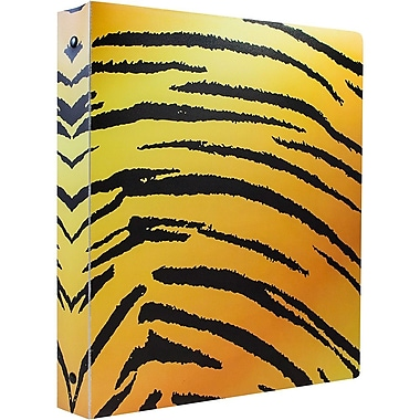 JAM Paper® Animal Print 3 Ring Binder, 1 inch, Tiger